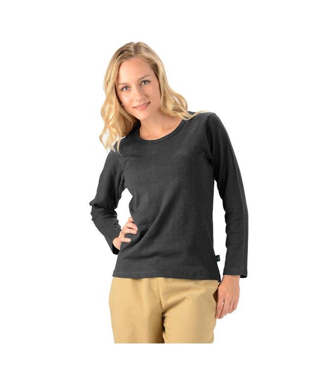 Eco-Essentials Women's Hemp L/S Scoop Neck Tee Black XL