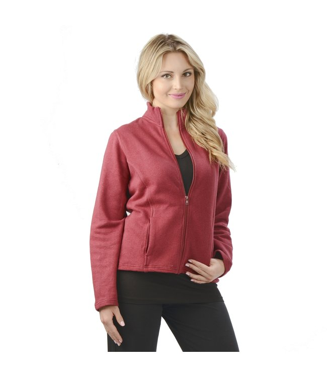Eco-Essentials Women's Hemp Jacket Burgundy