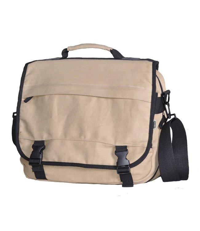 Eco-Essentials Hemp Messenger Bag Taupe