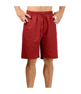 Eco-Essentials Men's Hemp Drawstring Shorts Burgundy