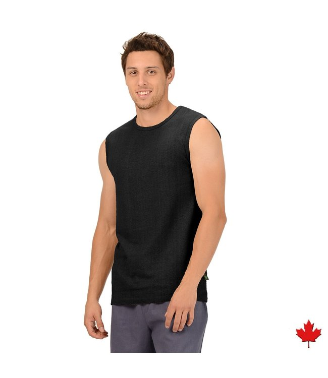 Eco-Essentials Men's Hemp Sleeveless T-shirt Black
