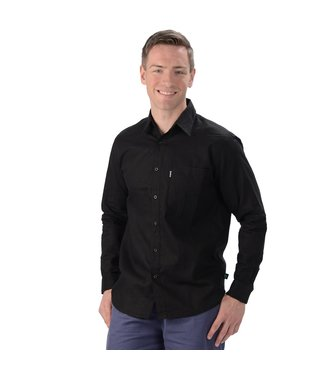 Eco-Essentials Men's Hemp L/S Dress Shirt Black
