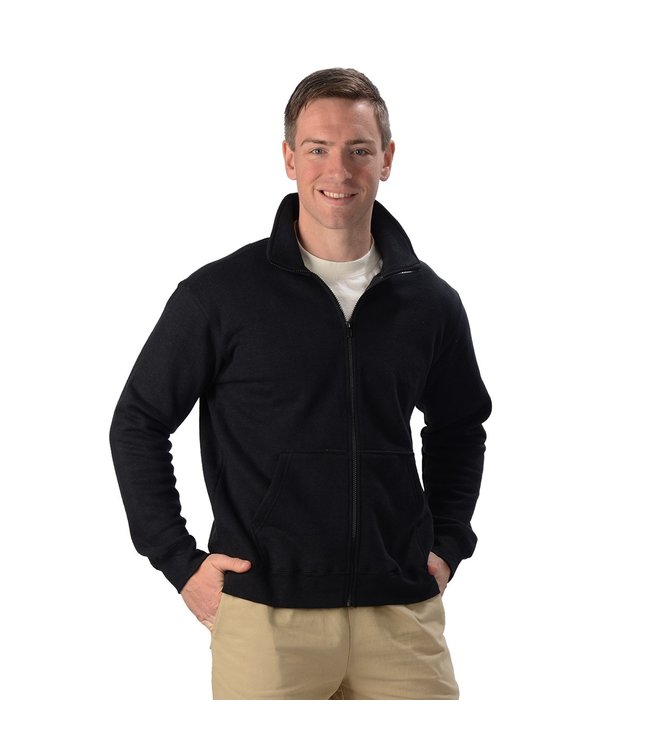 Eco-Essentials Men's Hemp Zip Jacket Black