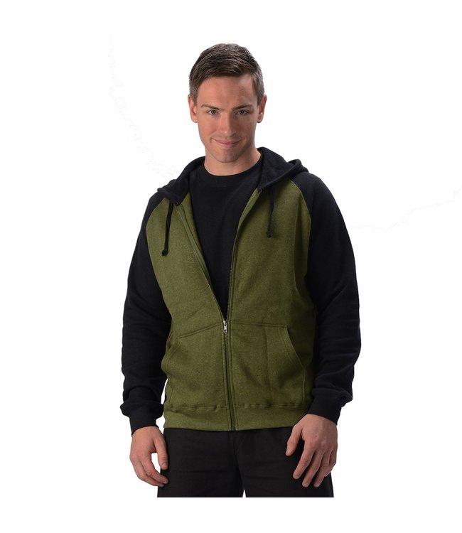 Eco-Essentials Men's Hemp 2 Tone Hoodie Black/Olive