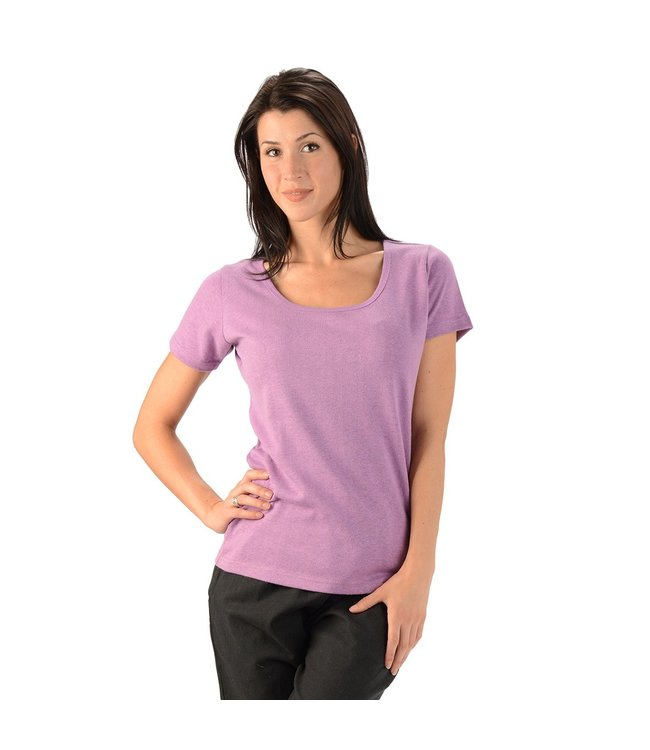 Eco-Essentials Women's Hemp/OC Scoop Neck T-shirt Lilac