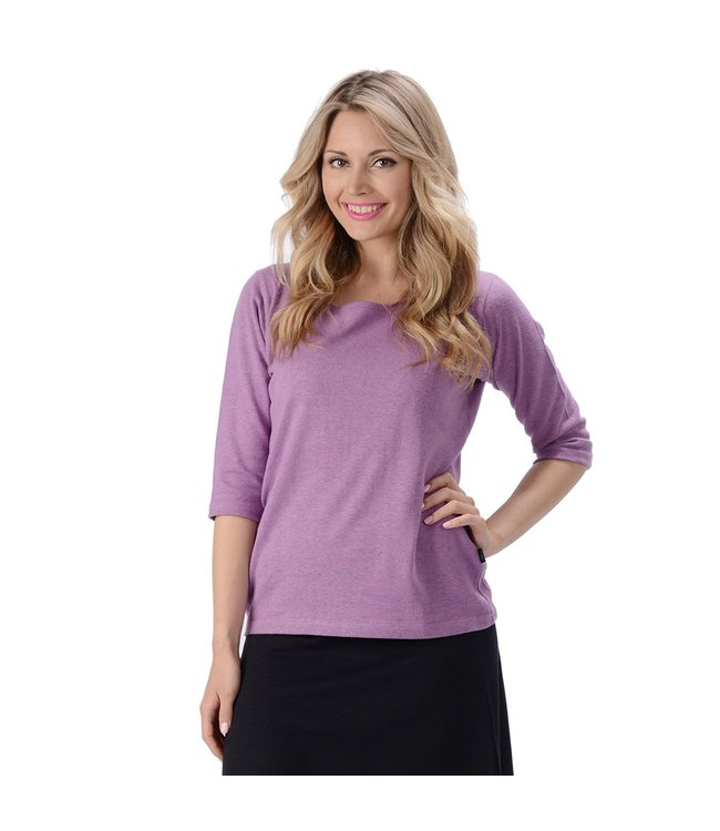 Eco-Essentials Women's Hemp/OC 3/4 Sleeve T-shirt Lilac XL