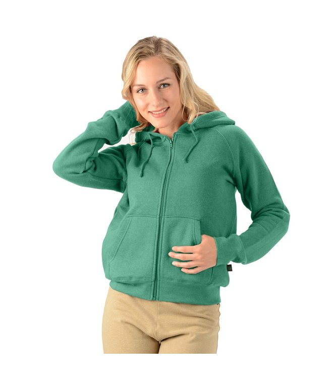 Eco-Essentials Women's Hemp Zip Hoodie Teal