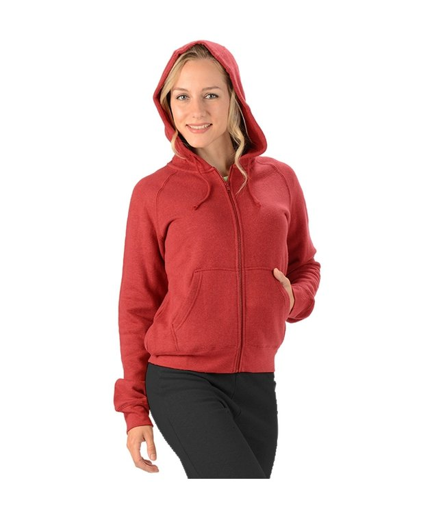 Eco-Essentials Women's Hemp Zip Hoodie Burgundy