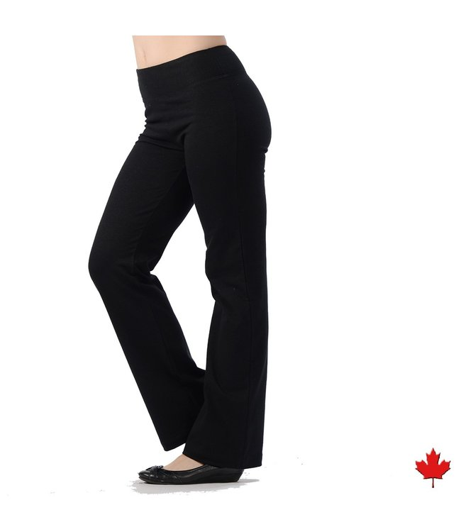 Eco-Essentials Women's Hemp Yoga Pants, Black