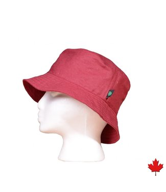 Eco-Essentials Hemp Bucket Hat Burgundy