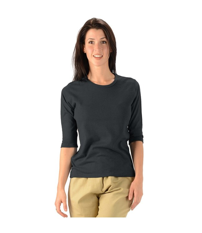 Eco-Essentials Women's Hemp 3/4 Sleeve T-shirt Black