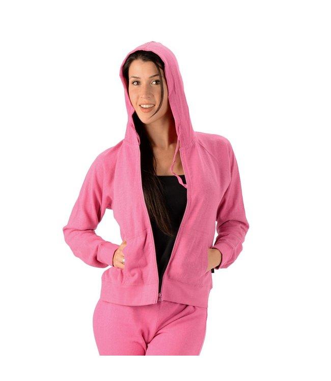 Eco-Essentials Women's Hemp Jersey Hoody Primrose L
