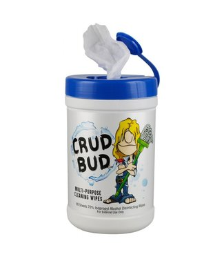 Crud Bud Crud Bud Multipurpose Cleaning Wipes 80-Pack