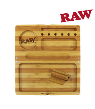 RAW RAW Back Flip Bamboo Rolling Tray Striped Limited Edition