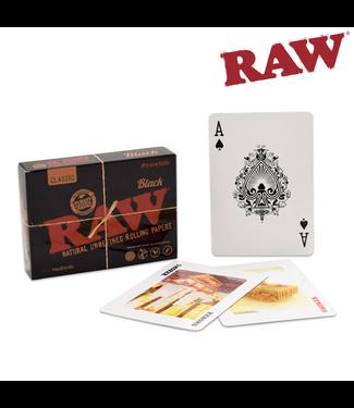 RAW RAW Black Playing Cards
