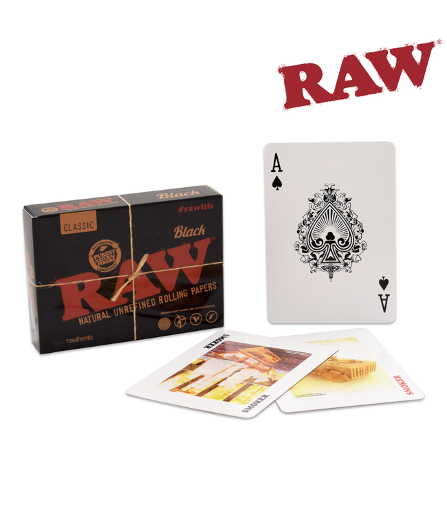 RAW RAW Black Playing Cards