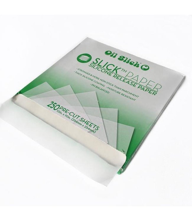 "Oil Slick Oil Slick Silicone Release Papers, 10"" x 10"", 250-pk"