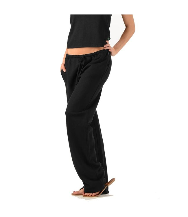 Eco-Essentials Women's Hemp Fleece Sweatpants Black XL
