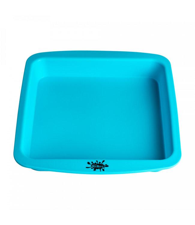 """NoGoo NoGoo Nonstick Silicone 8"""" x 8"""" Deep Dish Blue"""