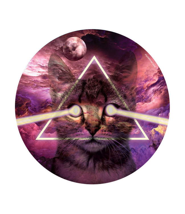 """My Dab Mat My Dab Mat 11"""" Silicone Kitty in Space"""