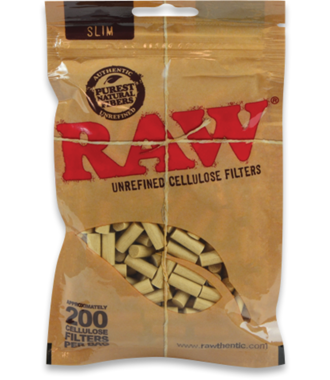 RAW RAW Natural Cotton Filters Slim 200-pack