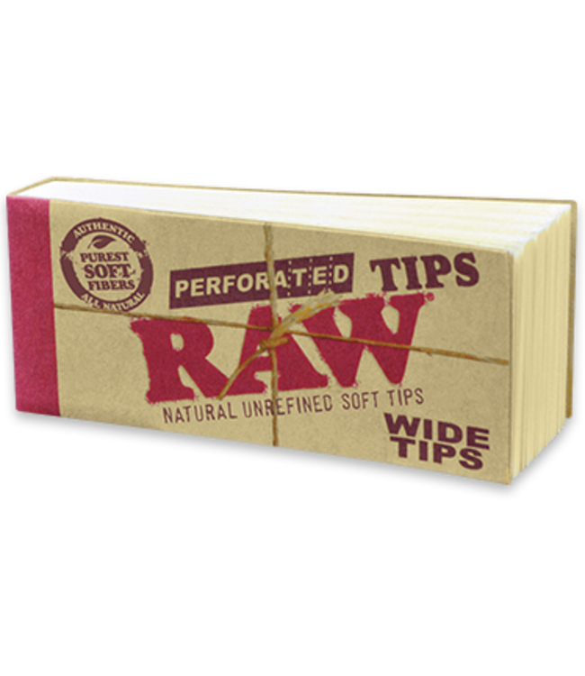 RAW RAW Tips Wide Perforated Hemp/Cotton