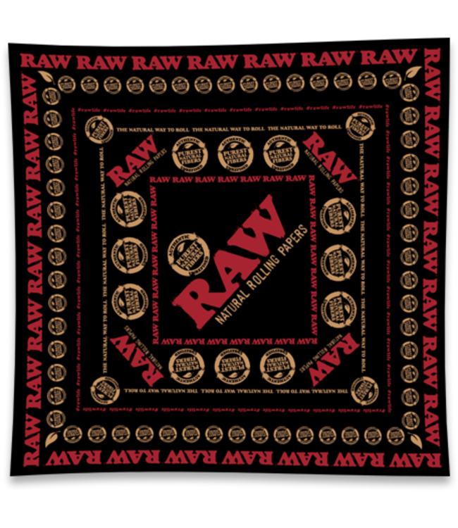 RAW RAW Vegan Soft Combed Cotton Scarf Black & Red