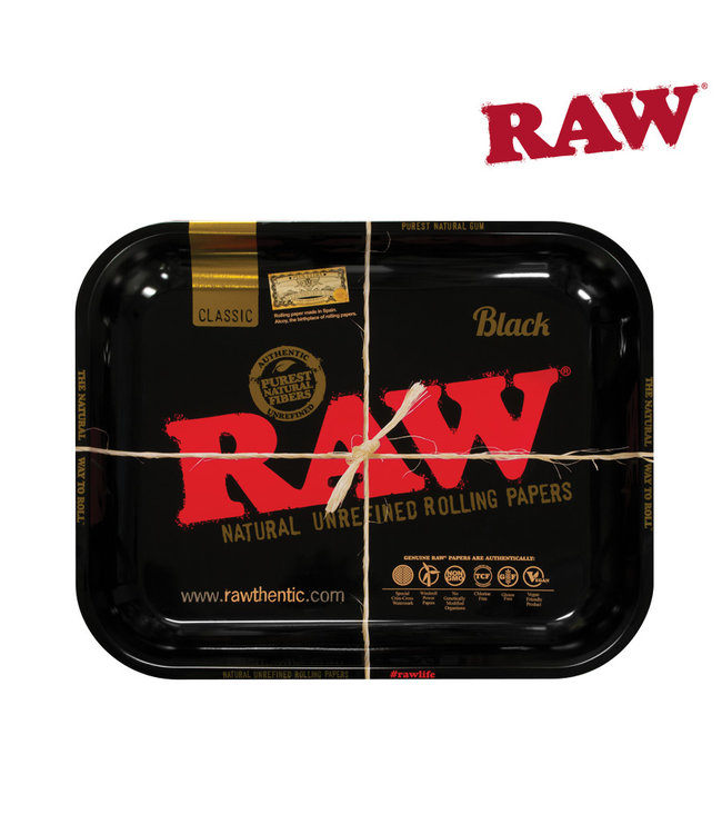 RAW RAW Black Rolling Tray Large