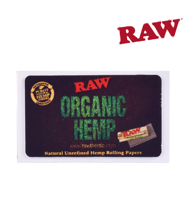 RAW RAW Organic Hemp Removable Sticker 9cm x 5cm