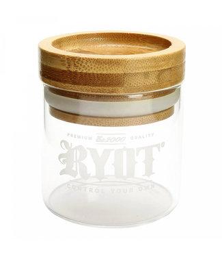 RYOT RYOT Glass Jar w/Bamboo Tray Lid