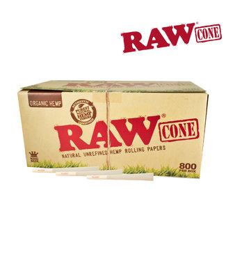 RAW RAW Organic Hemp King Size Cones 800-pack