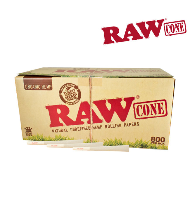 RAW RAW Organic Hemp King Size Cones 800-pack
