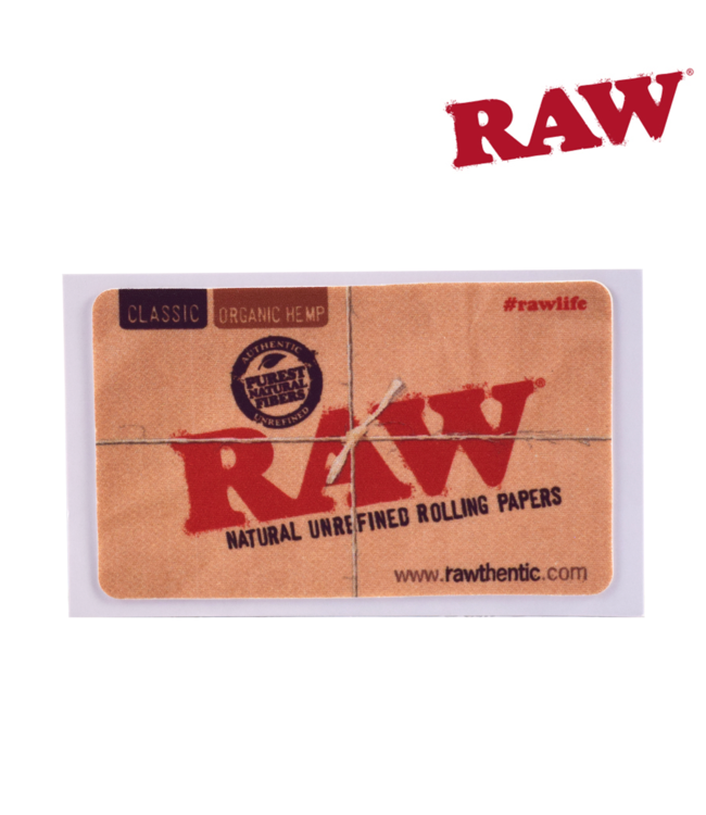 RAW RAW Removable Sticker Natural Unrefined