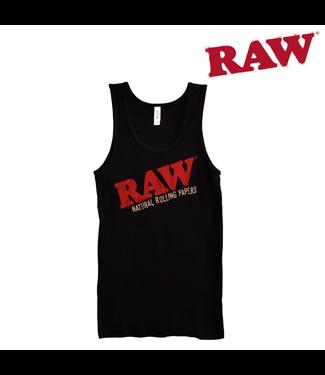 RAW RAW Ladies Baby Rib Black Tank Top