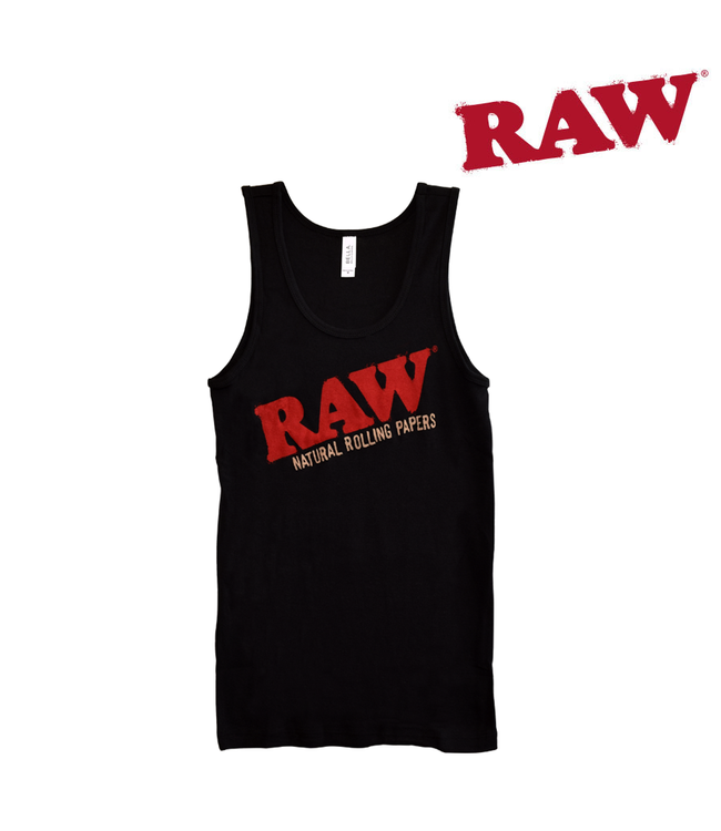 RAW RAW Ladies Baby Rib Black Tank Top