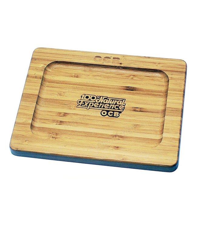 """OCB 9.75"""" x 7"""" Bamboo Rolling Tray"""