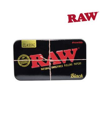 RAW RAW Black Metal Tin Case