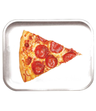 "Pulsar Pulsar 11"" x 7"" Metal Rolling Tray - Medium - Pizza"