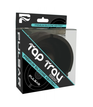 Pulsar Pulsar Tap Tray Basic Round Silicone Ashtray, Black