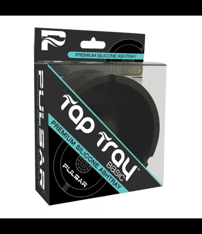 Pulsar Pulsar Tap Tray Basic Round Silicone Ashtray Black