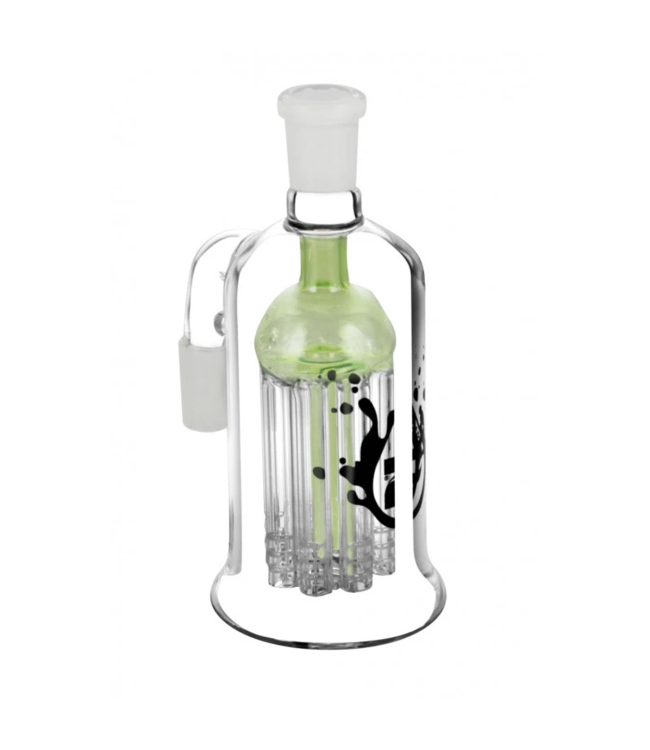 "Pulsar Pulsar 14mm 90° 5.5"" 8-Arm Tree Perc Ash Catcher Assorted Colours"
