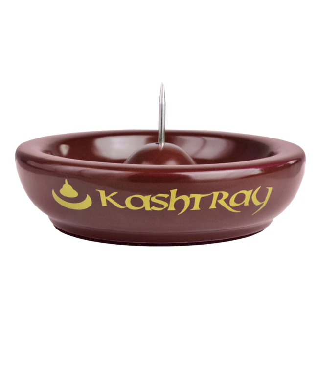 """Kashtray 4.5"""" Original Ashtray w/ Cleaning Spike Red"""