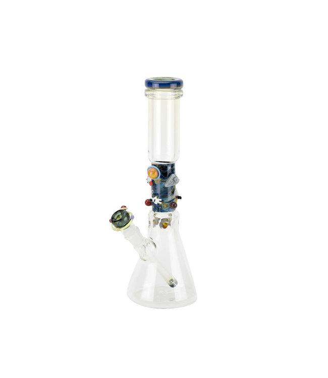 "Empire Glassworks Empire Glassworks 14"" Flagship Beaker Outer Space"
