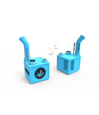 PieceMaker PieceMaker Silicone Square Kube Rig - Glow in the Dark Blue