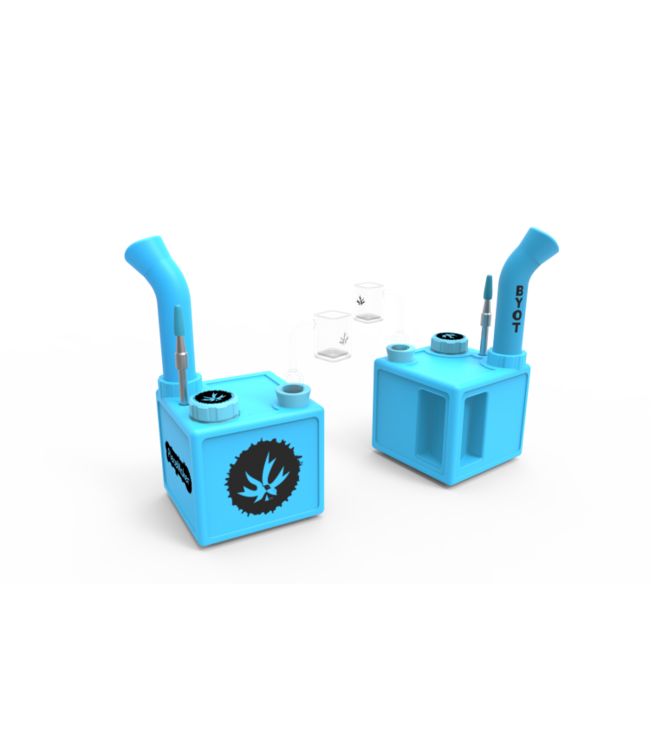 PieceMaker PieceMaker Silicone Square Rig, Kube - Glow in the Dark Blue