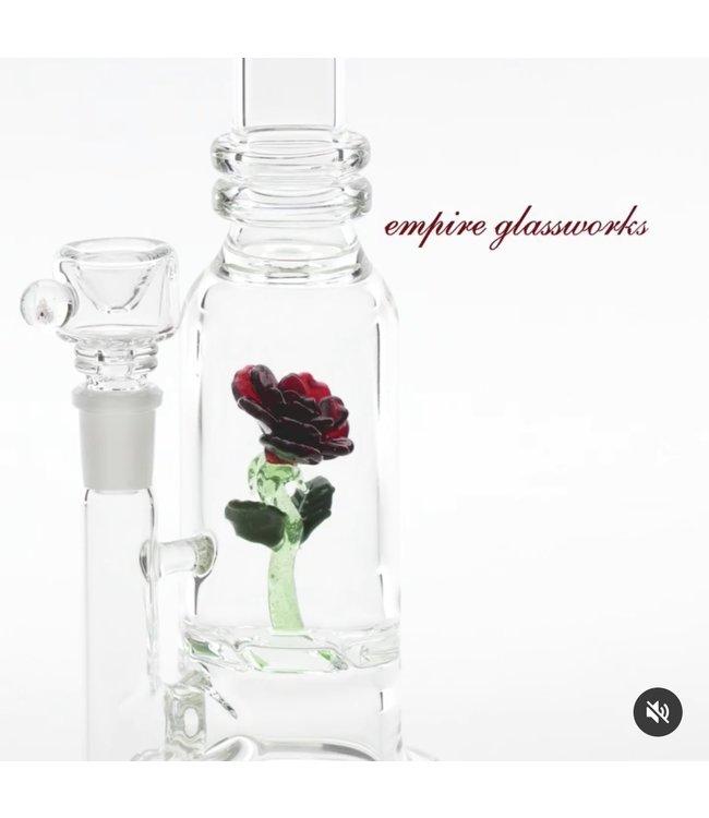 Empire Glassworks Empire Glassworks Rose Mini Rig w/ Herb Bowl
