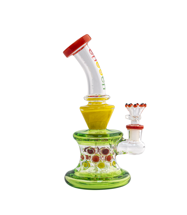 "Cheech Glass Cheech Glass 8"" Shower Head Rig Rasta"