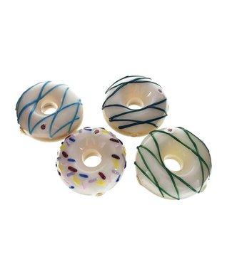 "Blowfish Glassworks Blowfish Glass 3"" Donut Pipe"
