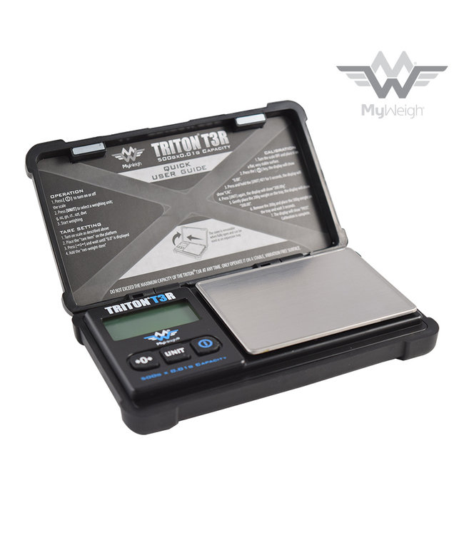 MyWeigh MyWeigh Triton T3-500 Rechargable Scale 500g x 0.01