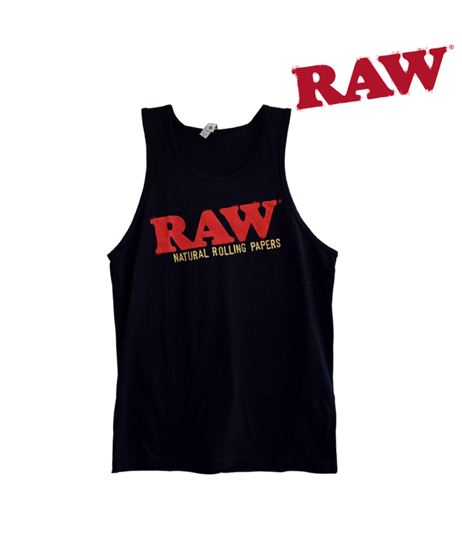 RAW RAW Black Tank Top